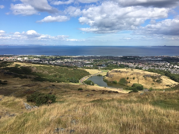 View from Arthur's seat in Edinburgh.